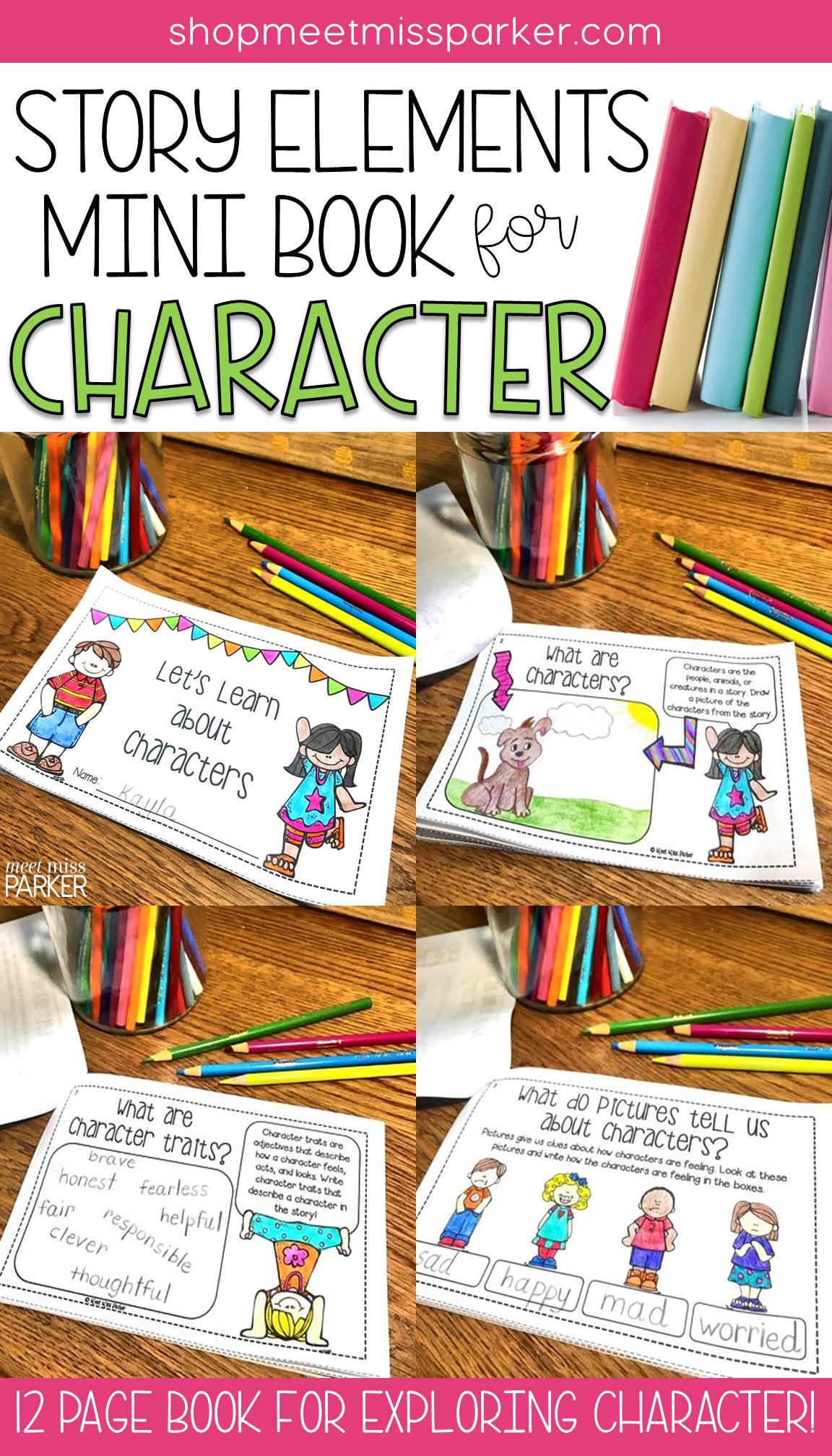 Story Elements Character Mini Book