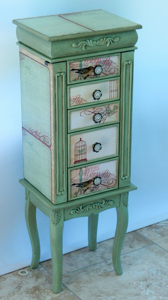 Repurposed Jewelry Armoire- Custom Made To Order | Mesas pintadas ...