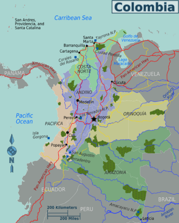 Colombia regions mapg 24 go maps pinterest colombia colombia regions mapg sciox Images