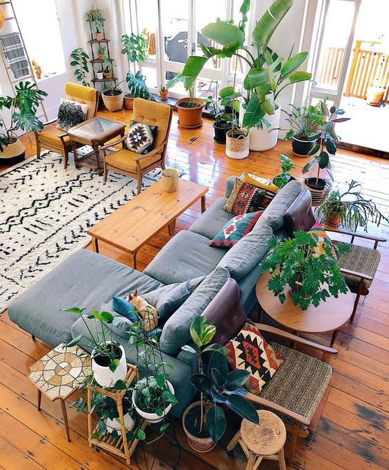 This New Zealand Home in a 1920s Converted Factory Is a Plant Lover's Dream -   12 living room loft home decor ideas