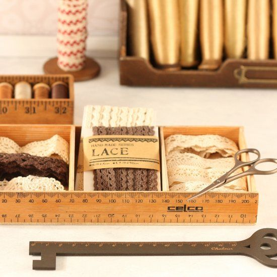 Repurpose Old Wooden Rulers And Make A Divided Ruler Box. Perfect For  Storing Ribbons And · Dremel 4000Recycled CraftsWood ...