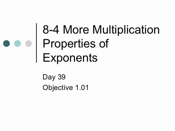 50 Multiplication Properties Of Exponents Worksheet in
