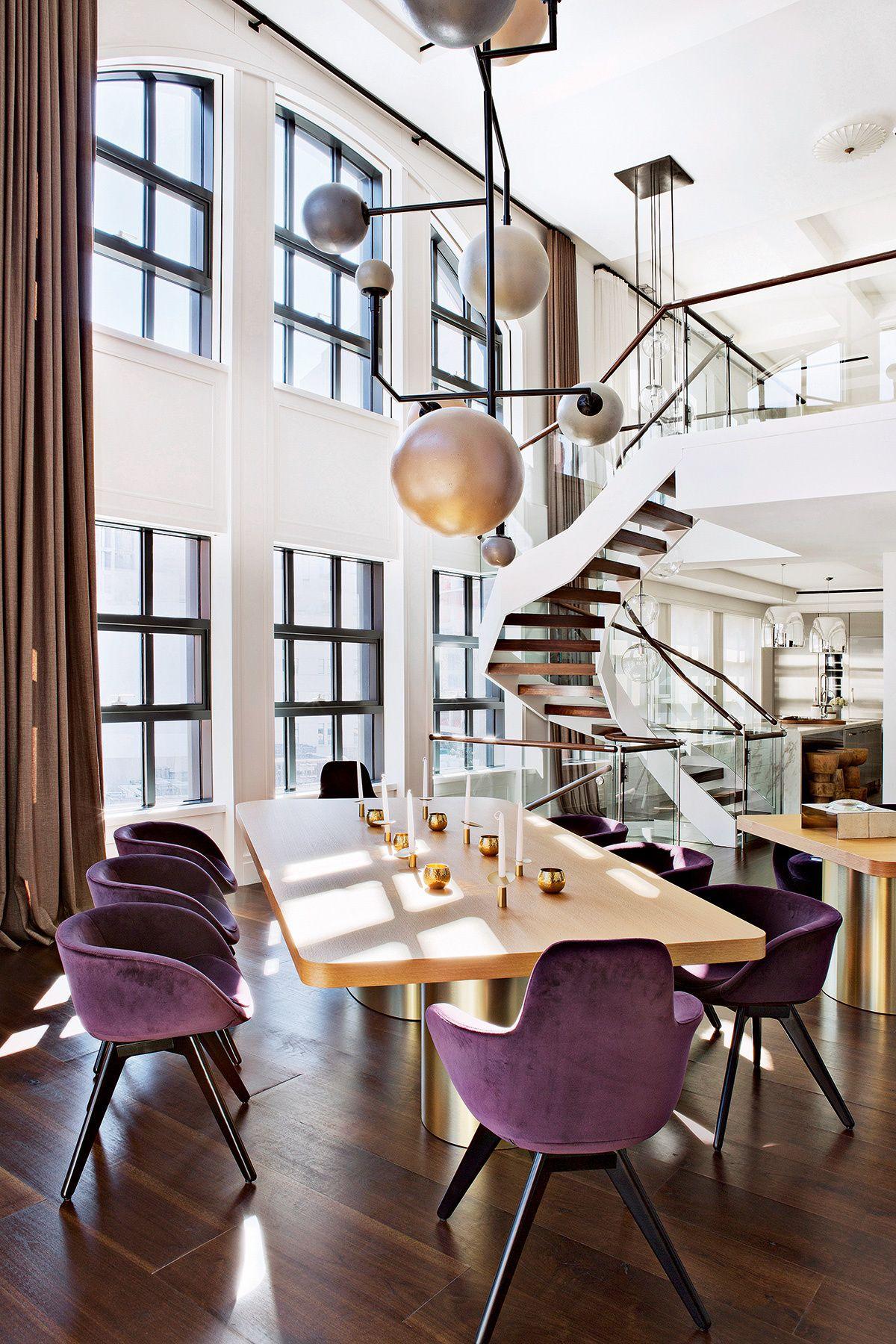 Manhattan Por Hillman Julie Decora Casa En Nueva York Galería De Fotos 8 Purple Paint Colorsinterior