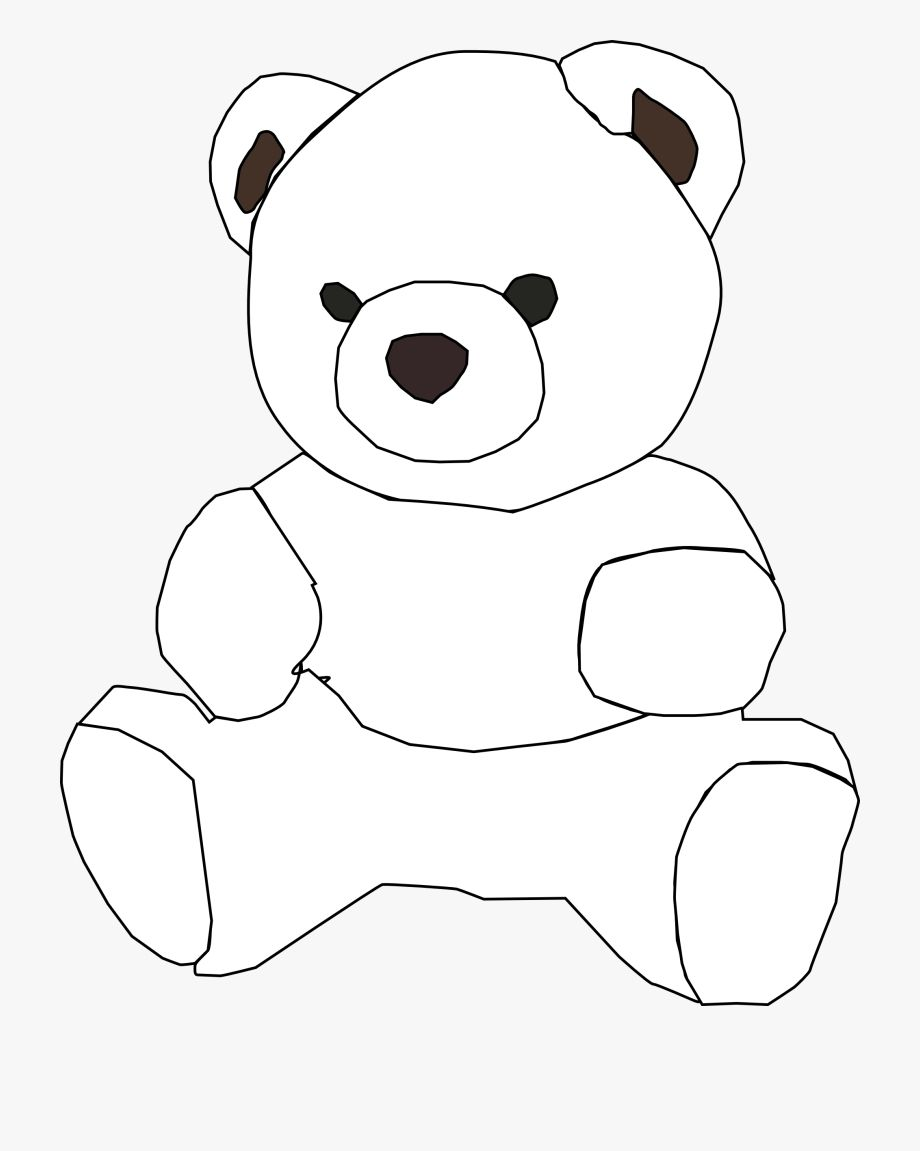 Bear Clipart Black And White In 2021 Bear Clipart Polar Bear Cartoon White Polar Bear