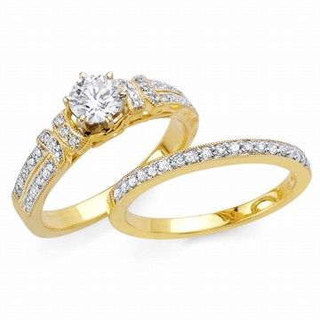 yellow gold engagement rings yellow gold engagement rings sets wedding pinterest gold wedding rings gold weddings and ring - Gold Wedding Ring Sets