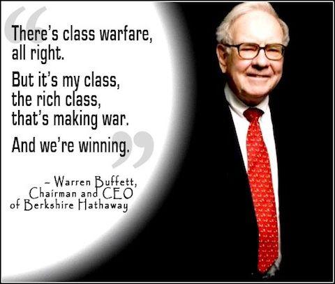 Warren Buffett Declares Class Warfare Warren Buffett Class Warfare