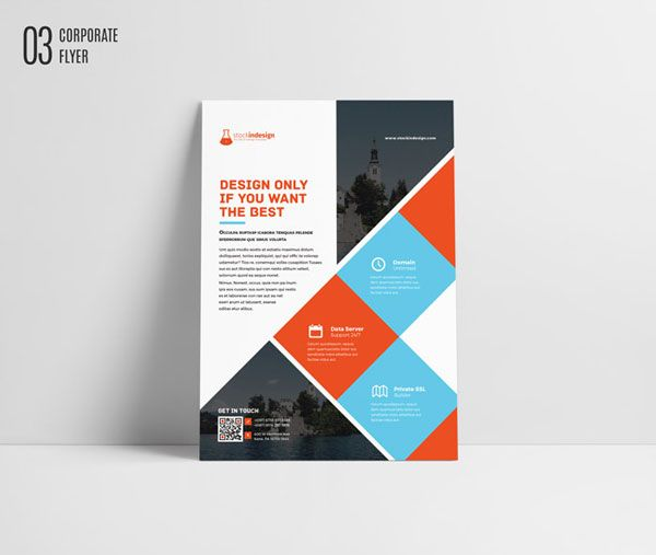 Free Indesign Template Corporate Flyer Brochure Free Indesign