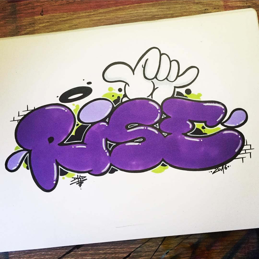 Rise graffiti bubble letters for youtube ✌🏻 graffiti graffitiporn graffitiletters dope bubbleletters youtube art artlovers artist
