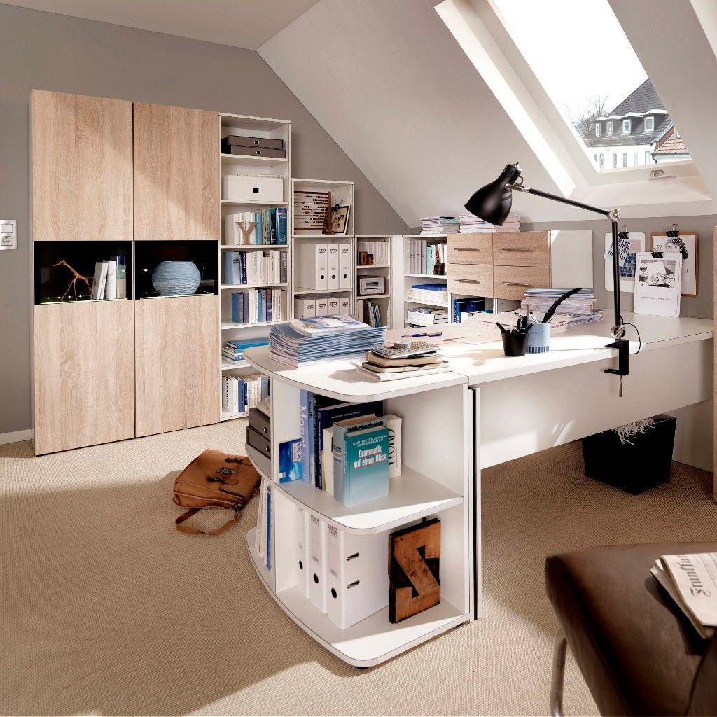 Weißer Schreibtisch der Serie Bürowunder. Perfekt für das ...