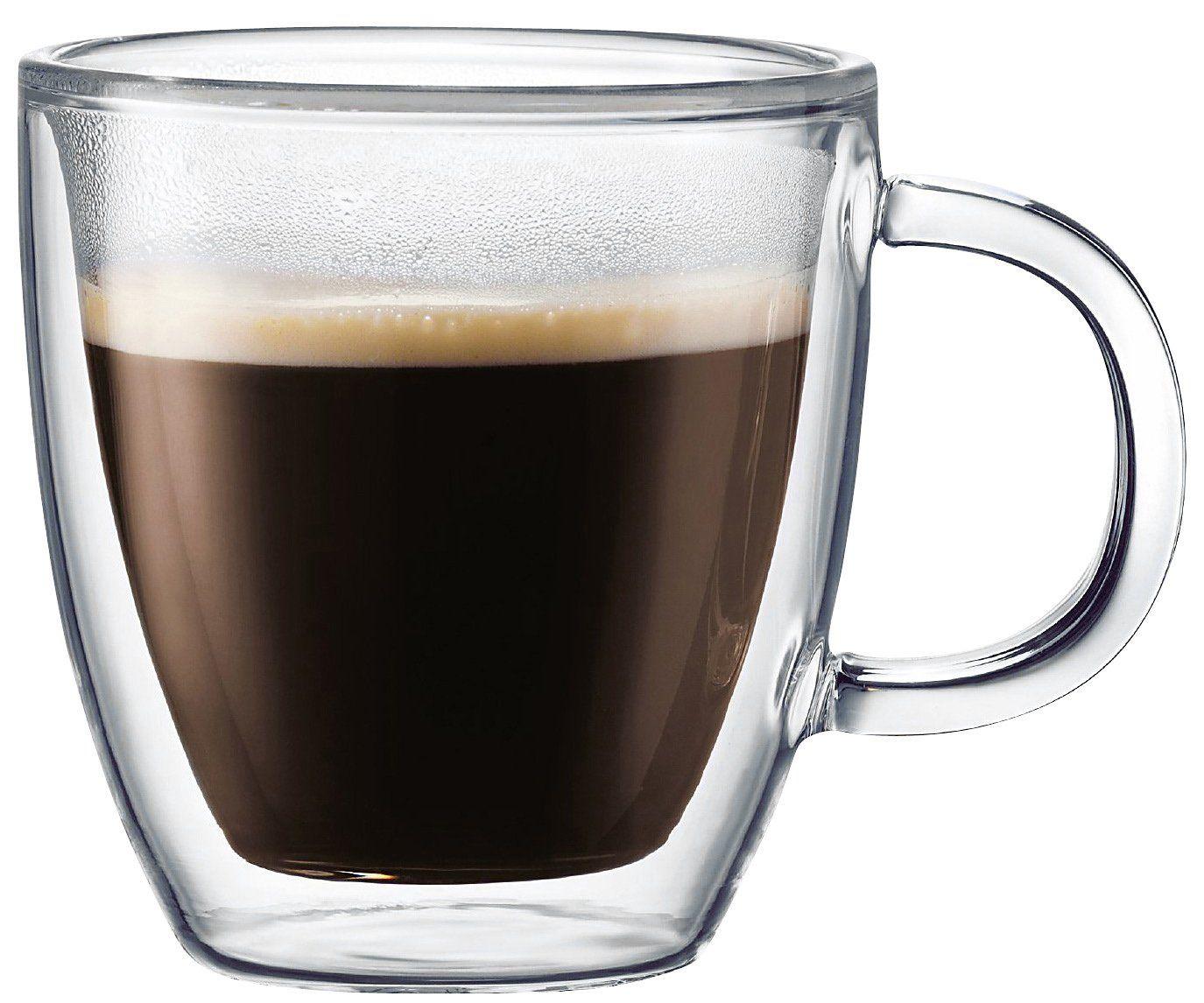 Bistro doublewall glass mug set of 2 10 oz glass