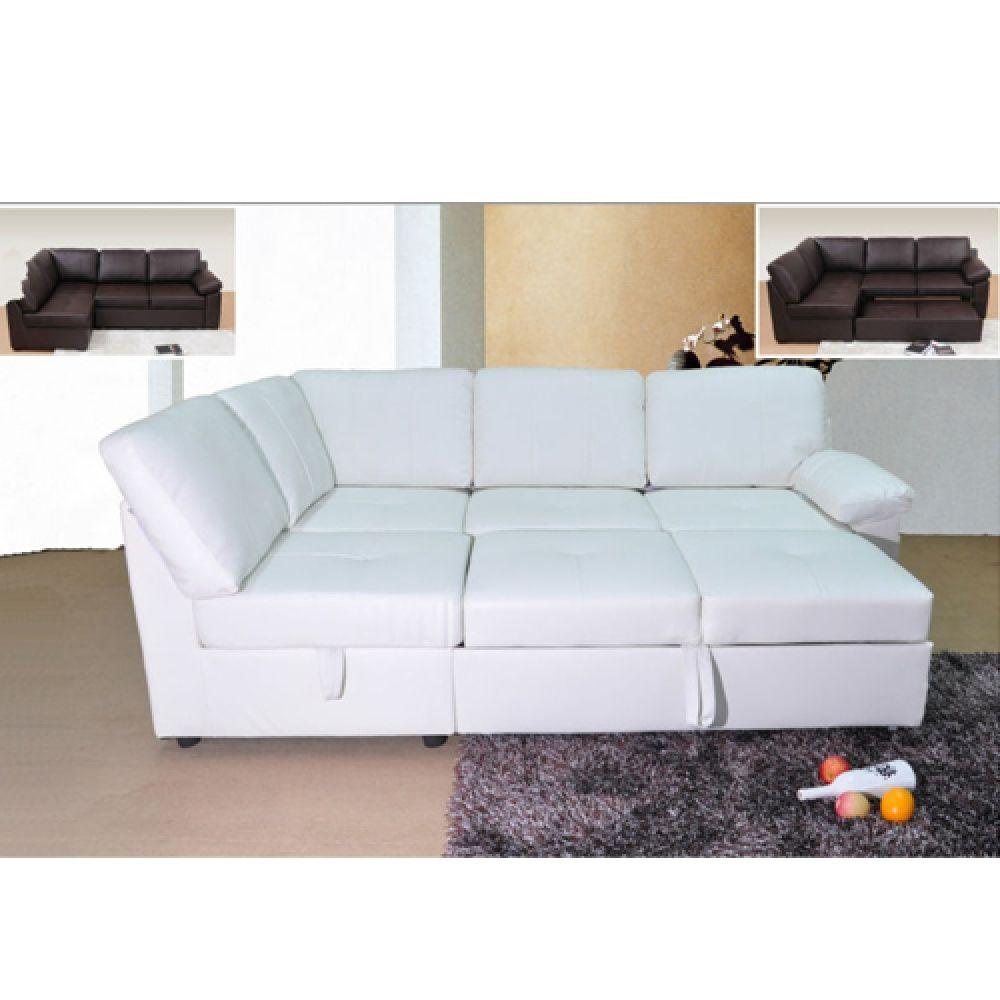 Corner Sofa Bed Jenson White Leather Corner Sofa Bed Different