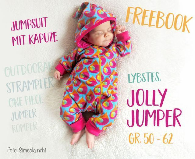 FREEBOOK: Jumpsuit in Gr.50 und 56/62! Baby-Strampler selber nähen ...