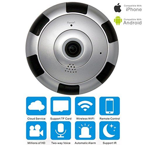 Panorama Wireless IP Camera VRURC 960P HD Wifi Smart Camera