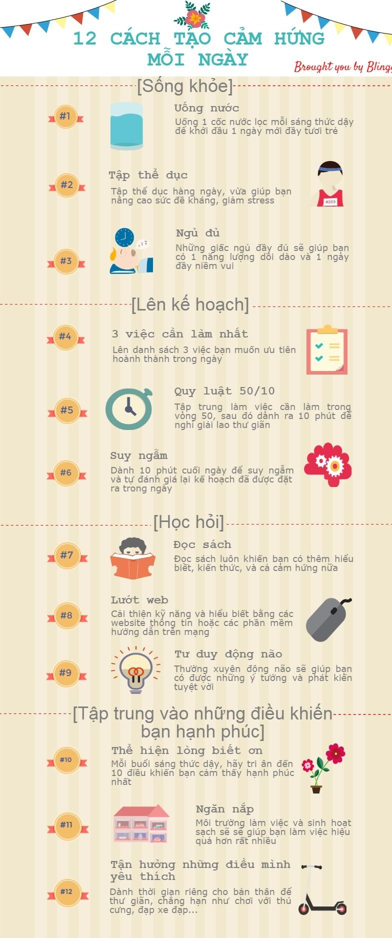 My very first Infographic, about inspiration things in life, made in Vietnamese for my friends. Will try to keep it up :D