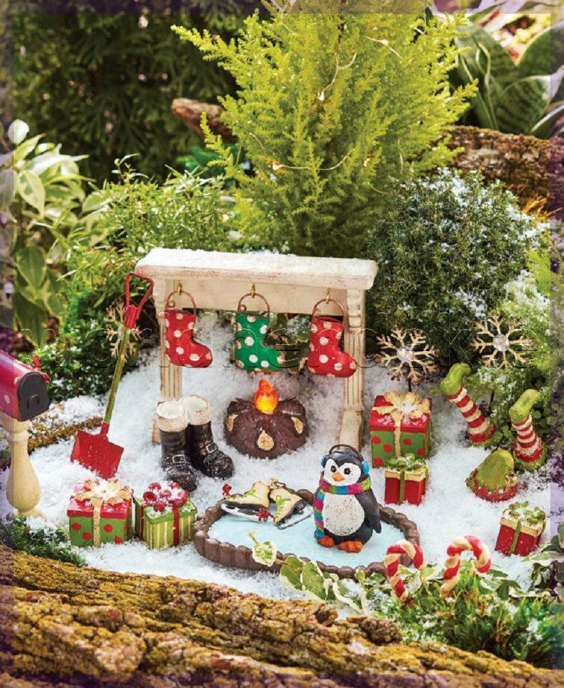 garden decorations gauteng  Christmas fairy garden, Winter fairy
