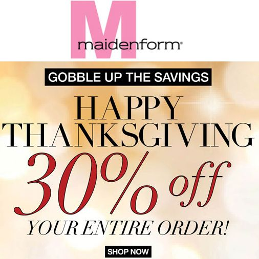 Maidenform : 30% off any order