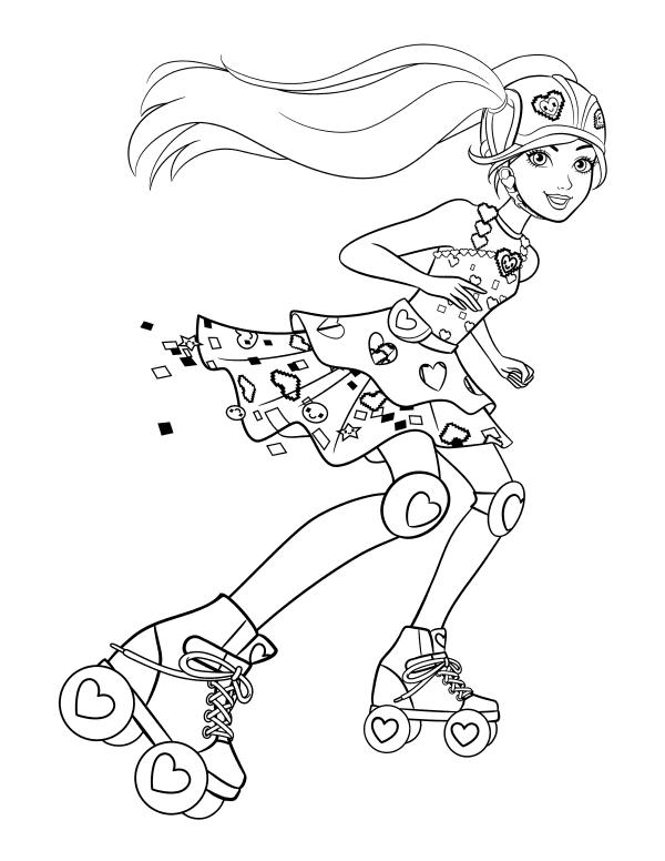 Barbi Na Rolikah Raskraski Princessa Raskraski Raskraski Disnej