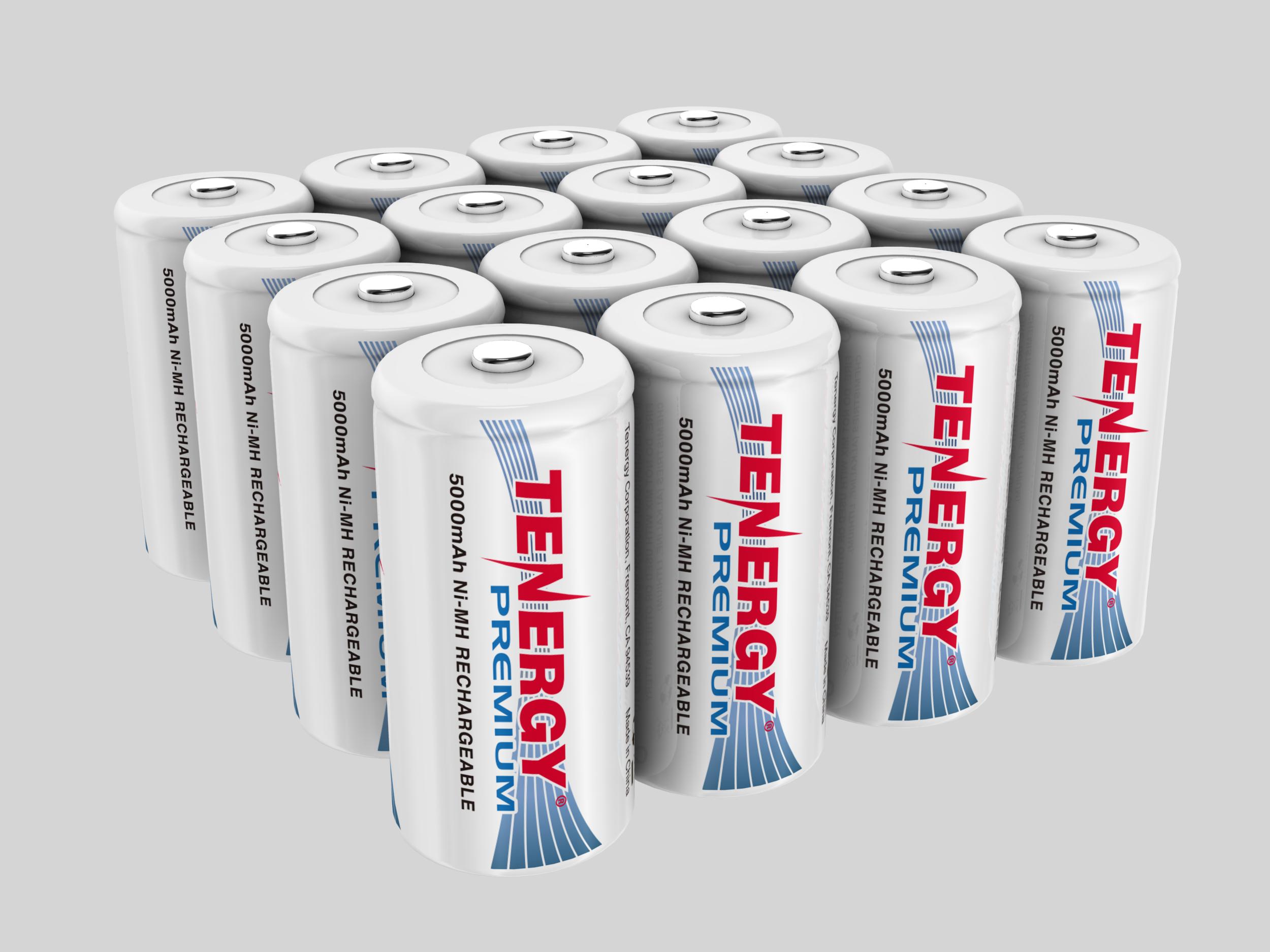 Combo Tenergy Premium Nimh C 5000mah Rechargeable Batteries 8 Pack Rechargeable Batteries Nimh Recharge