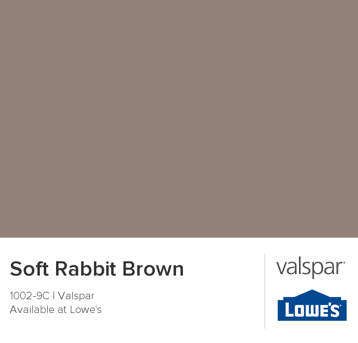 Soft Rabbit Brown From Valspar Colors For Homepaint