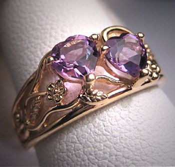 Vintage Amethyst Wedding Ring Victorian by AawsombleiJewelry, $585.00