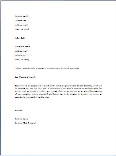 Gift Letter is used whenever you want to send someone a gift A - business invitation letter template