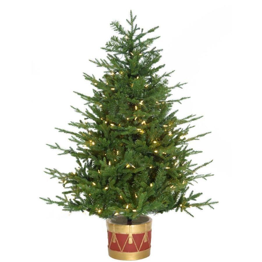 Fraser Hill Farm 4-Ft Pre-Lit Artificial Christmas Tree ...