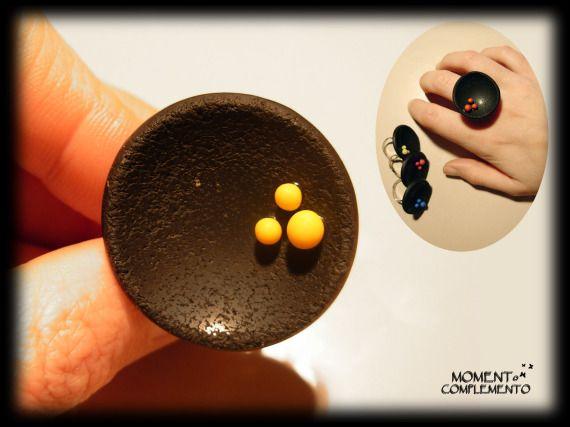 Anillo Curvatura Amarillo / MOMENToCOMPLEMENTo shop - Artesanio