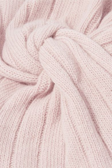 dde18992fbe Miu Miu - Knotted Wool And Cashmere-blend Turban - Pink