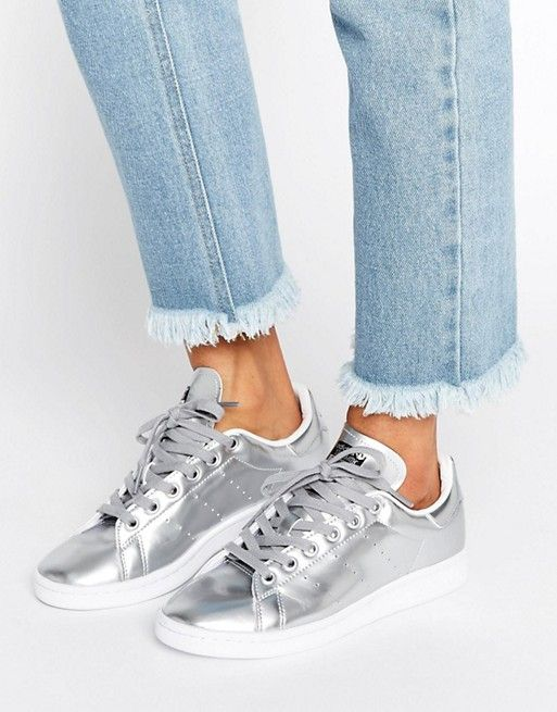 adidas Originals Silver Metallic Stan Smith Trainers  e5246c45c