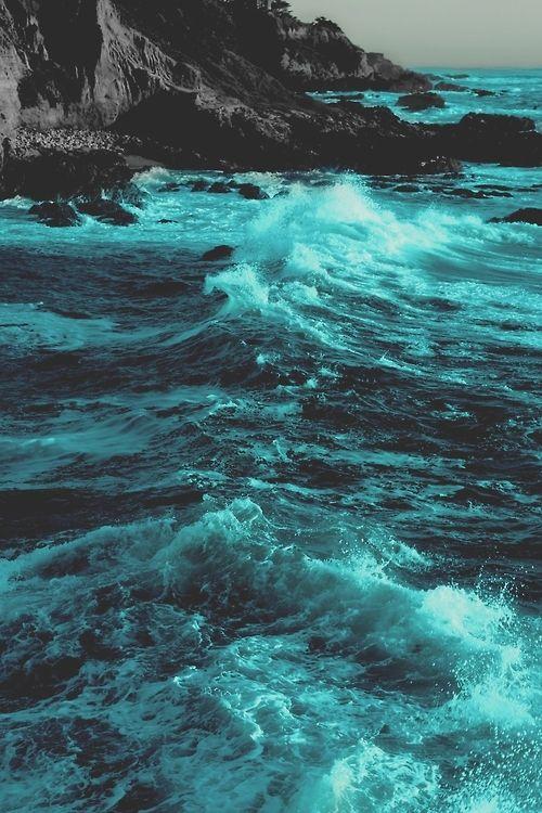 Enchantment Summer Blue Sky Beach Ocean Nature Waves Sea Rocks Tide Dreamy Ocean Nature Photography Ocean Waves