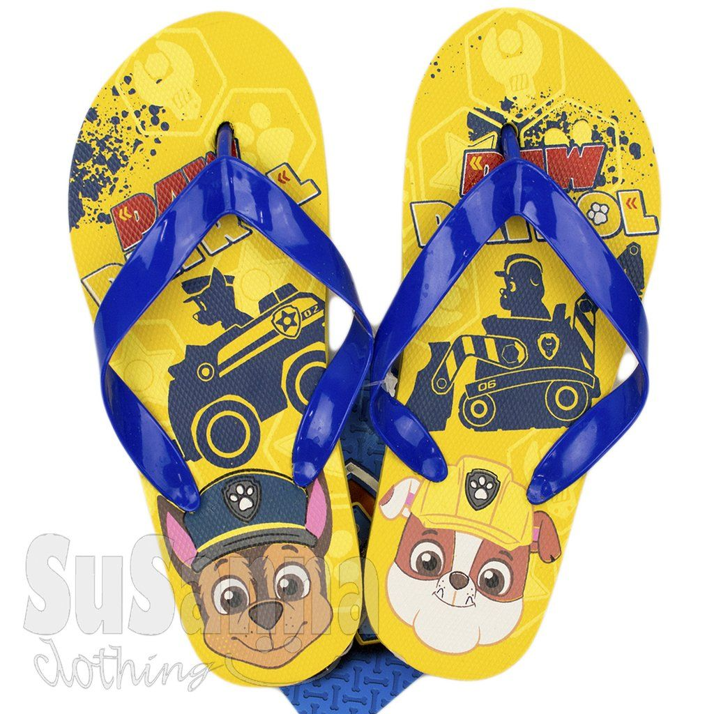 Boys Paw Patrol Flip Flops Character Nickelodeon Beach Shoes