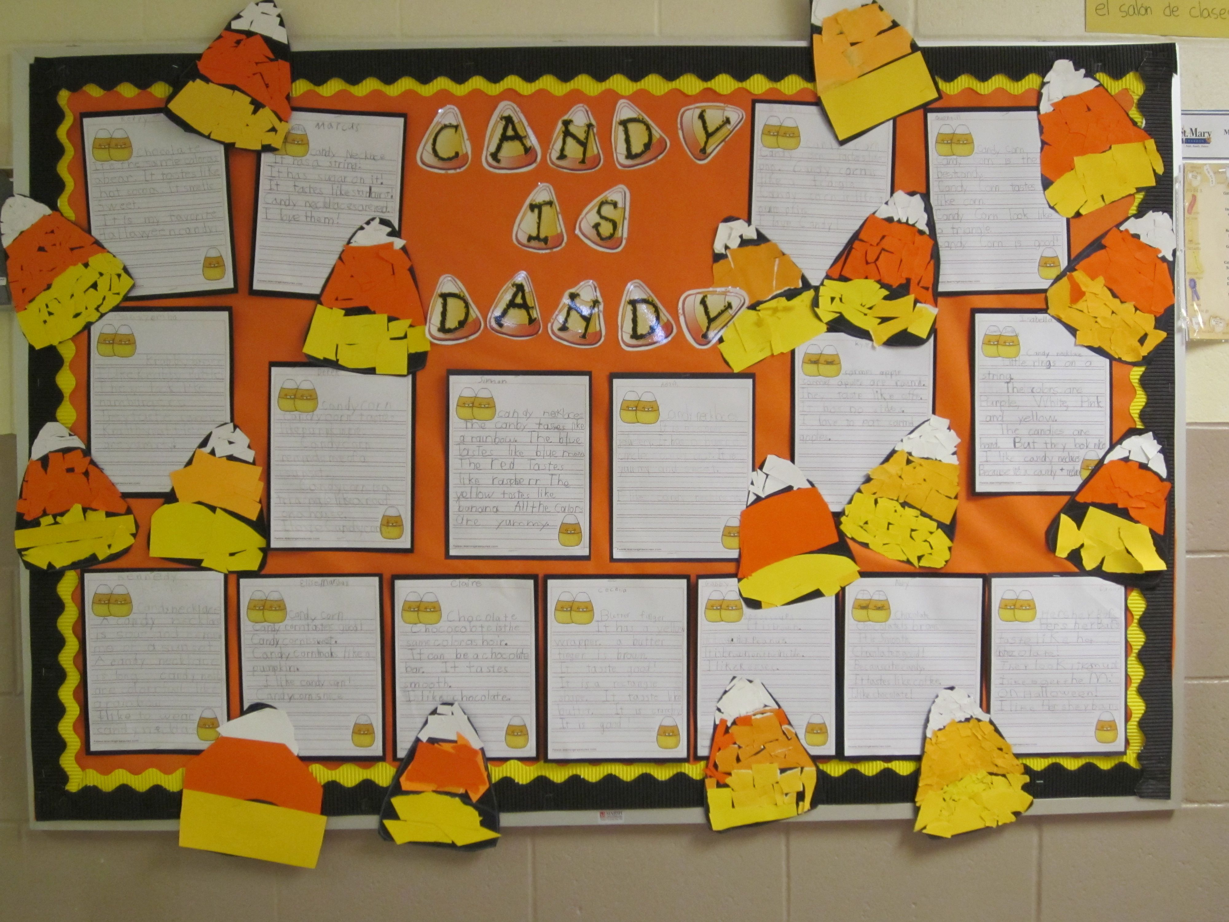 office bulletin board ideas yellow. Halloween Bulletin Board Candy Is Dandy And So Are You! Office Ideas Yellow I