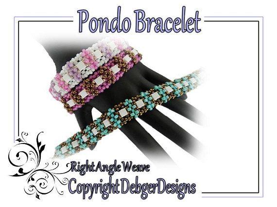 Pondo Bracelet - Beading Pattern Tutorial by DebgerDesigns on Etsy https://www.etsy.com/listing/130393425/pondo-bracelet-beading-pattern-tutorial