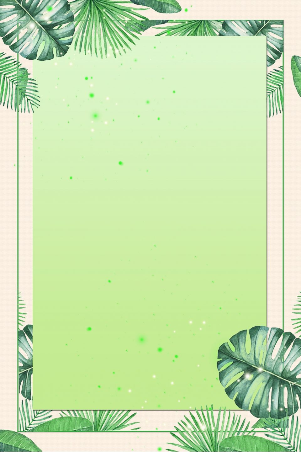 Spring Green Fresh Flower Plant Border Graphic Design Background Templates Cute Tumblr Wallpaper Floral Poster