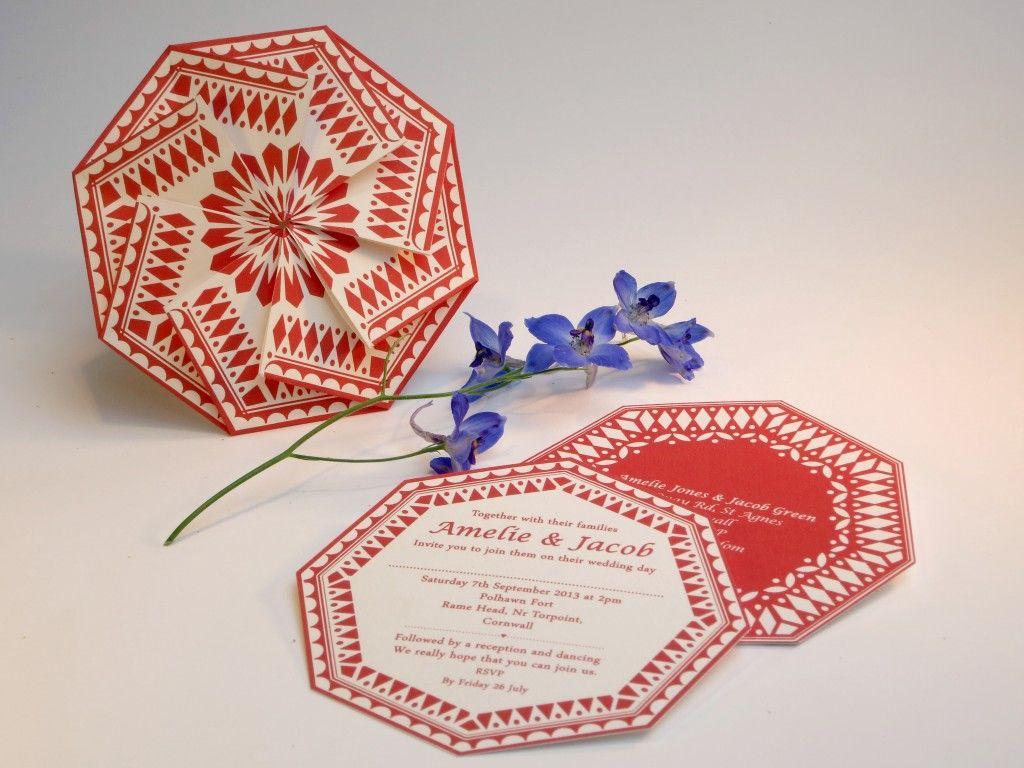 Origami Wedding Invitation | Anja Jane + Papershake ... - photo#30