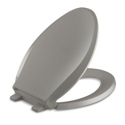 Kohler Cachet Quiet Close With Quick Attach Hinges And Grip Tight Elongated Toilet Seat Finish Elongated Toilet Seat
