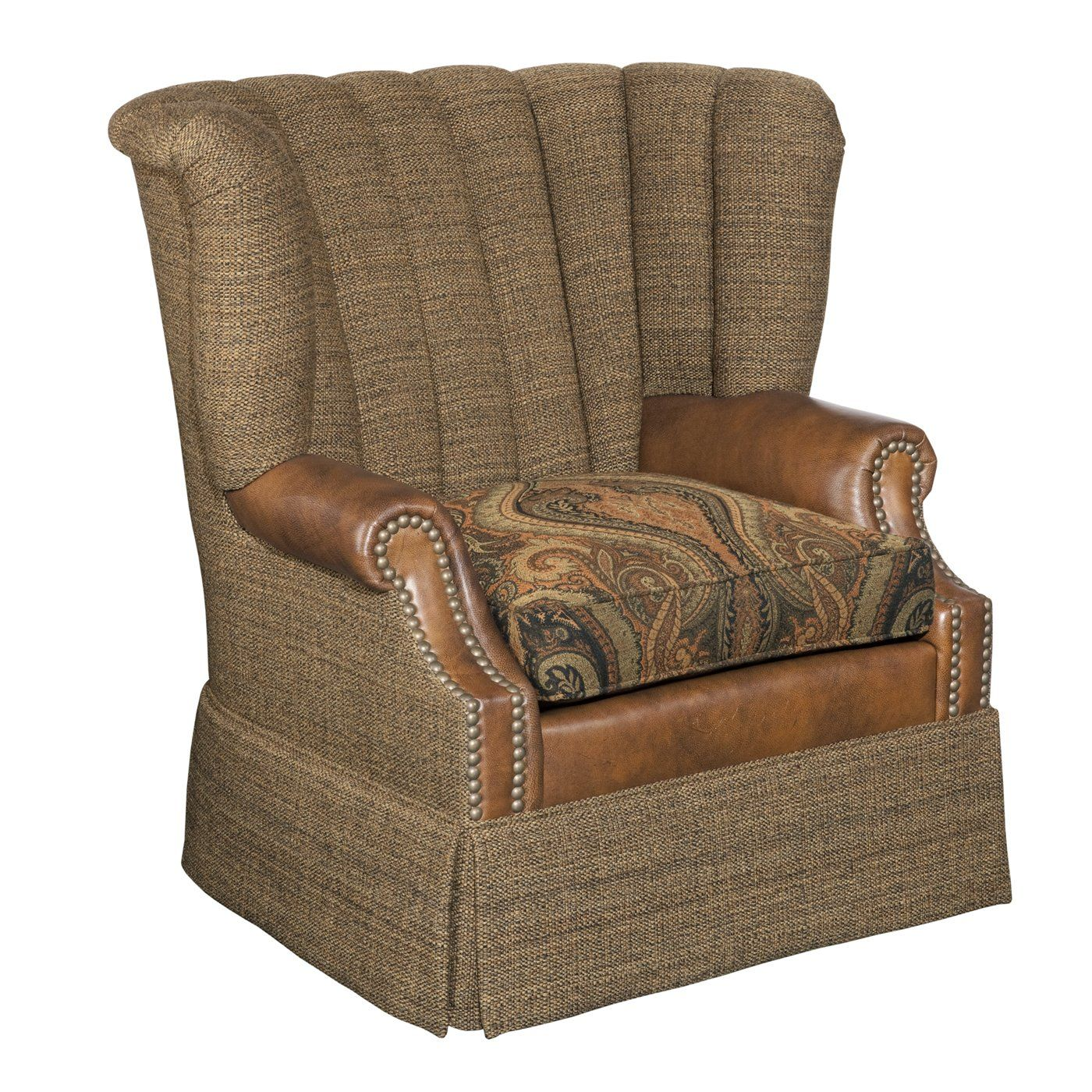 Shadow Mountain SM5251 88 AC Rustic Living Upholstered Swivel