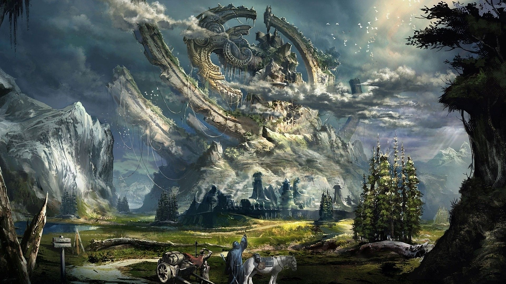 mage video games fantasy art horses artwork tera online