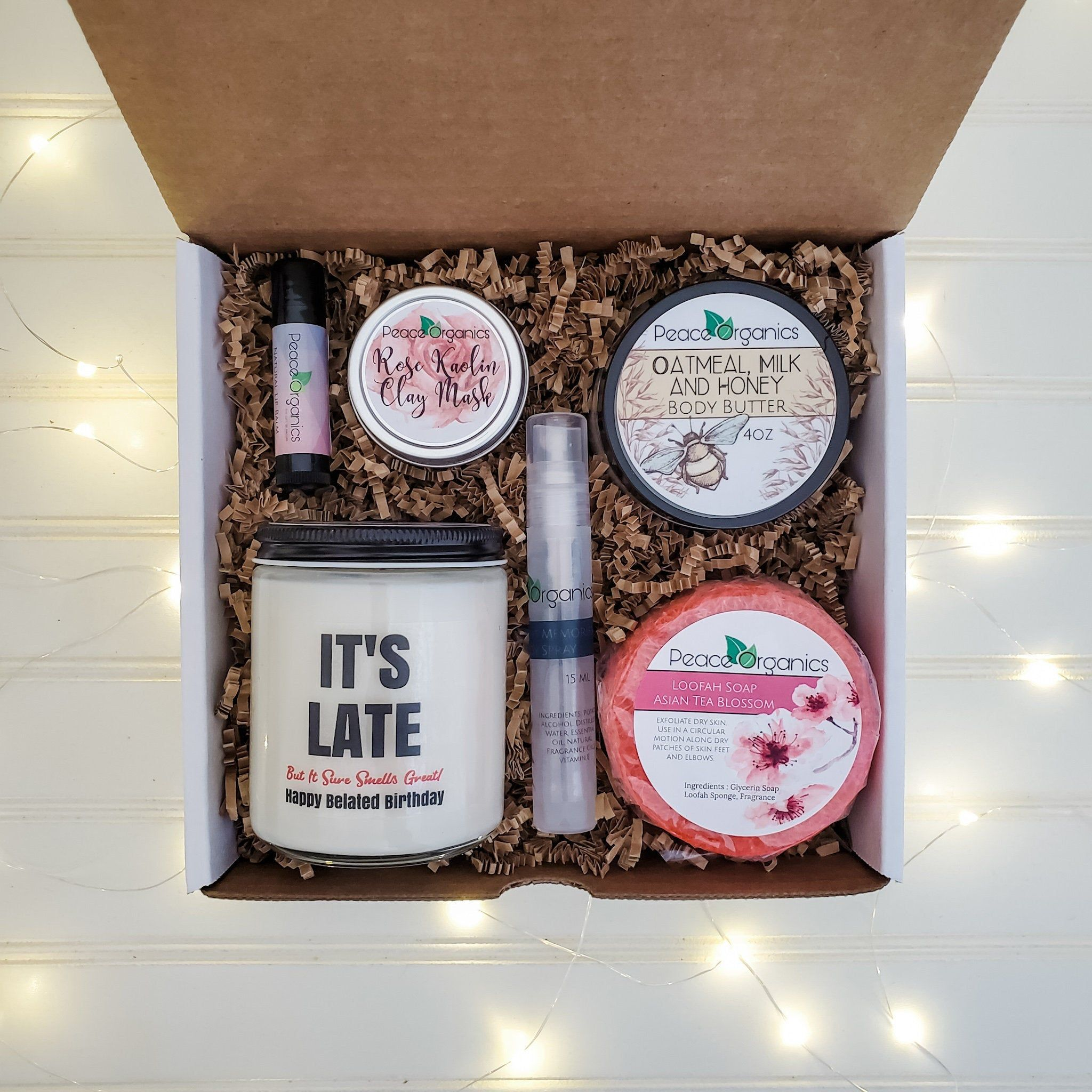 It's Late Belated Gift Ideas Late Birthday Gift Box
