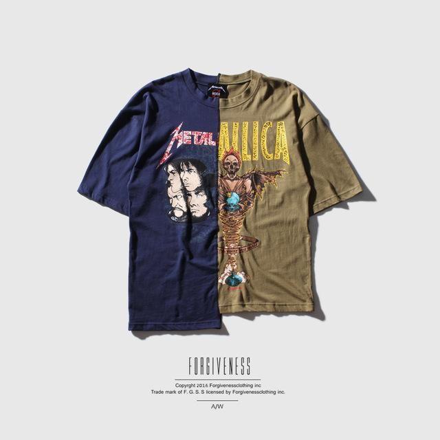 d70efb2b5b Metallica - Black & Green Half Sleeve Oversize T-shirt | Metallica t ...