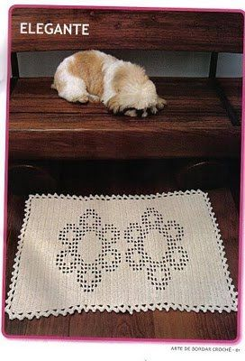 Croche maravilha de arte: tapetes