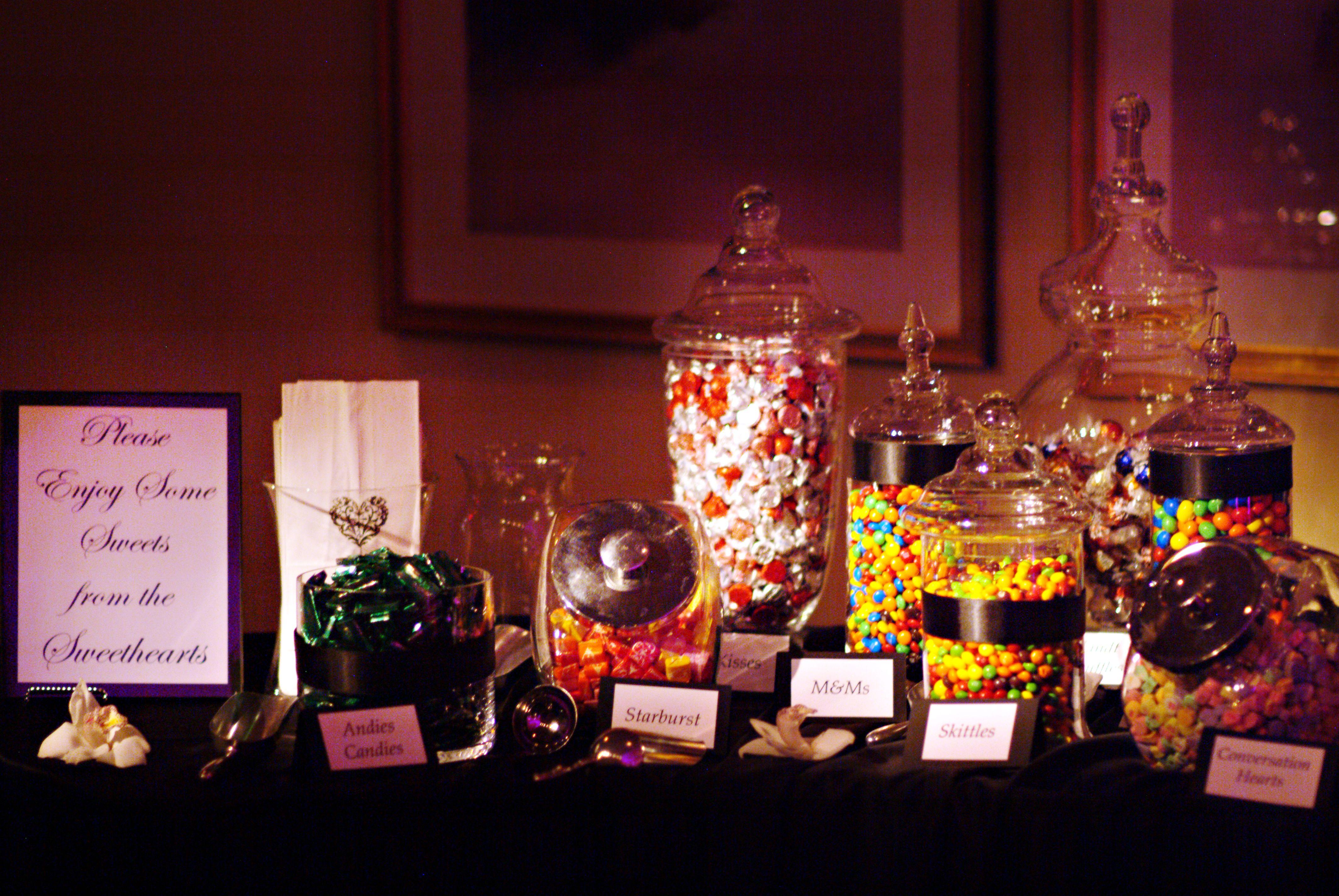 Elegant Candy Buffet Blissful Beginnings Weddings