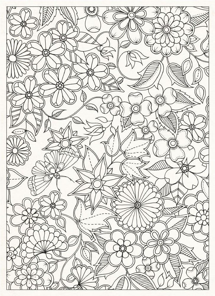 Coloring Page World Floral Print