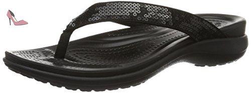 Sloane Embellished Slide, Sandales Bout Ouvert Femme, Noir (Black/Black 060), 42/43 EUCrocs