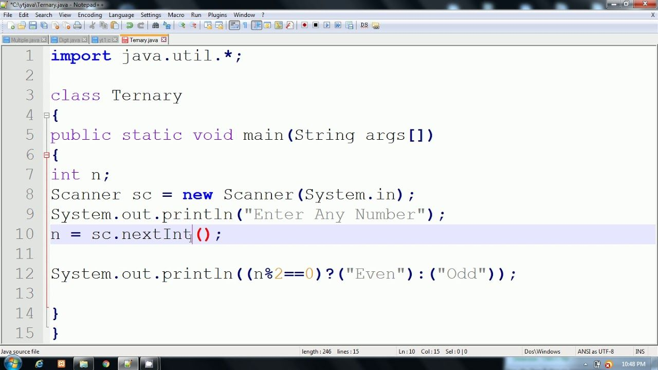 Madison : Operator java in hindi
