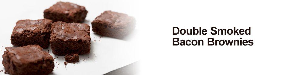 Double Smoked Bacon Brownies