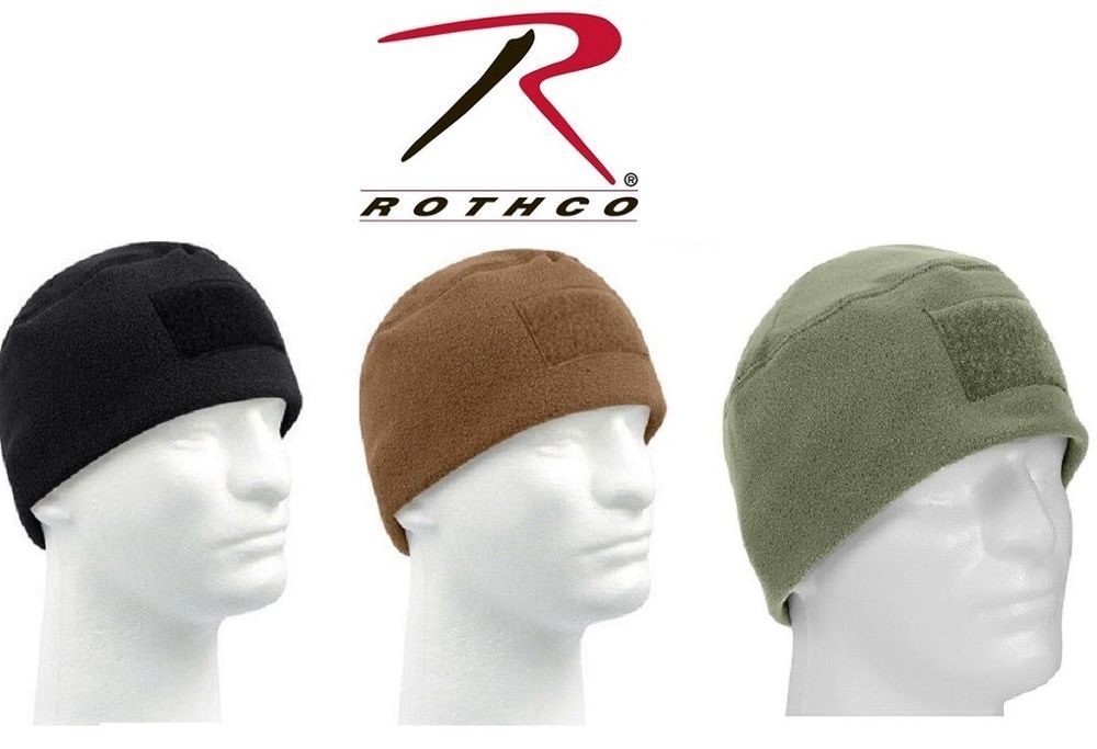 Rothco Tactical Polar Fleece Beanie Watch Cap w  Front Loop Panel for Patch  8760   5072a9765d99