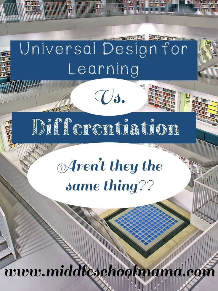 Universal Design For Learning Udl Vs Differentiation Universal Design Udl Lesson Plans Learning Theory