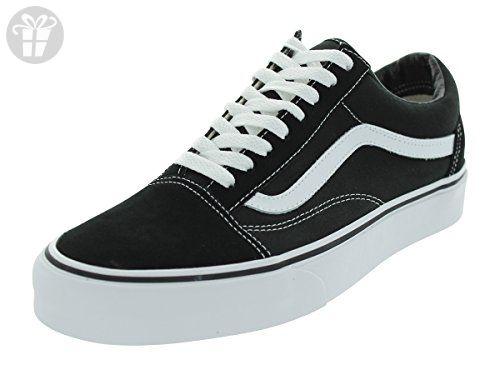 Vans Unisex Old Skool Black White Skate Shoe 10.5 Men US ( Amazon Partner edd132cbd