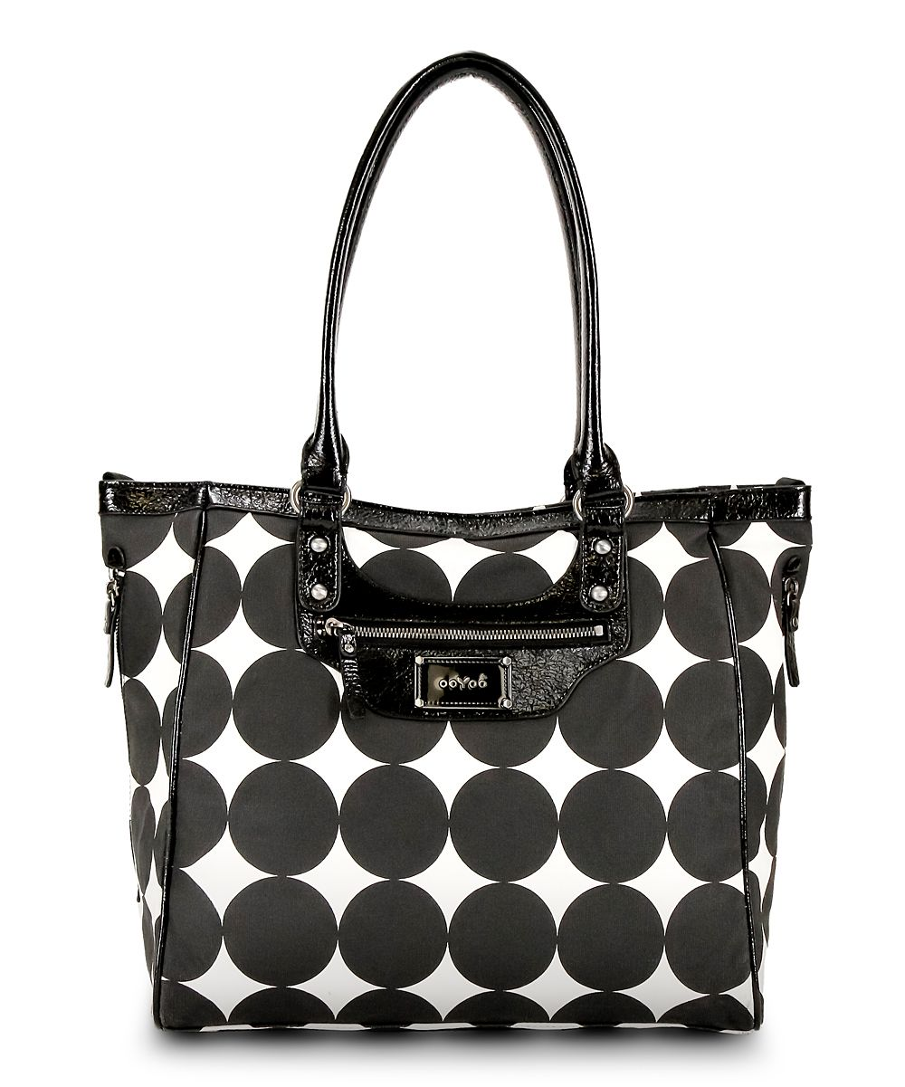 Black Dots Betsy Tall Diaper Bag   Daily deals for moms, babies and kids